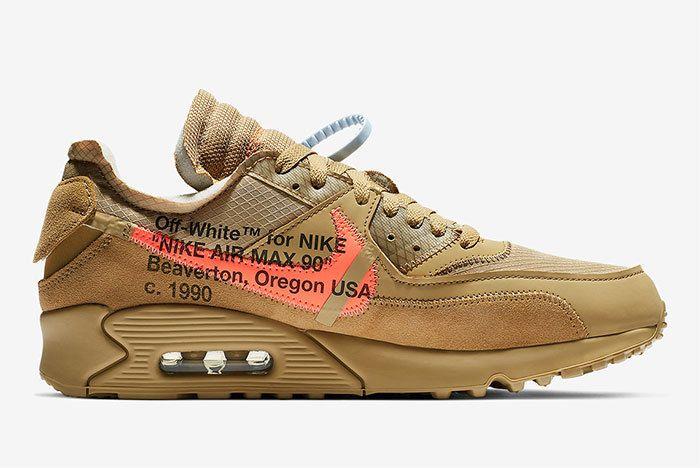 Off White Nike Air Max 90 Desert Ore Release Date 4
