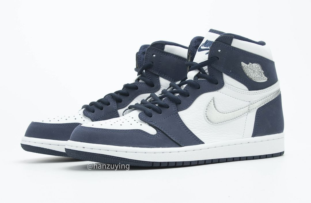 Air Jordan 1 CO JP Midnight Navy Angled