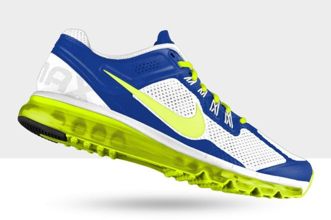 Nikeid Air Max Volt White Blue Profile 1