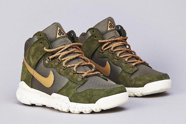 Nike Sb Dunk High Oms Light Green Gold 6
