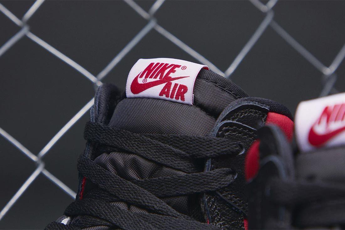 Air Jordan 1 Gym Red 555088 061 Tongue Shot