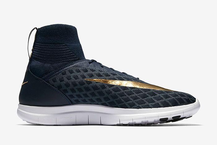 Nike Free Hypervenom Iii Flyknit Navy Blue Gold 5