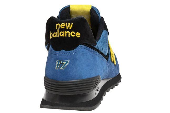 New Balance Race Inspired 574 Blue And Yellow Heel 1