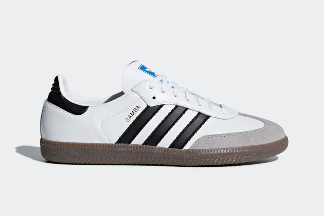 Adidas Samba White Black Lateral Side Shot