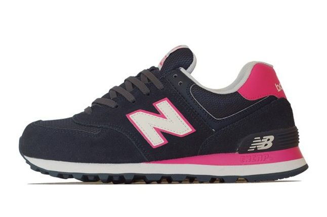 New Balance 574 Navy Pink Profile 1