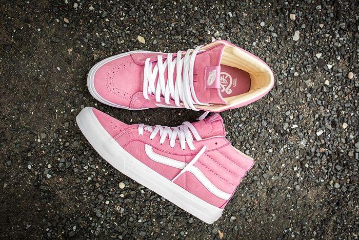 Vans Year Of The Monkey Sk8 Hi Slim Pink Leather 9