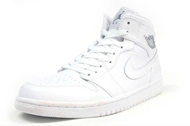 Air Jordan 1 White On White Quater 1