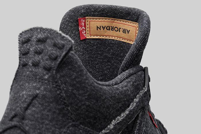 Levis Air Jordan 4 Black Denim 4