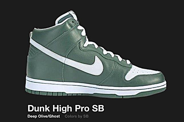 Nike Dunk High Sb Deep Olive Ghost 2004 2