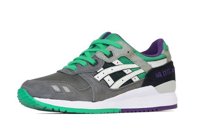 Asics Gel Lyte Iii Green Purple 11