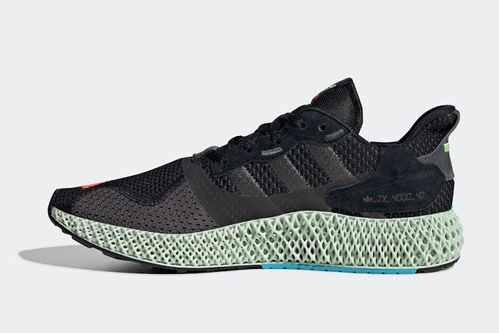 Adidas Zx 4000 4 D I Want I Can Black Ef9625 Release Date 2 Angle