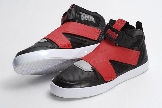 Puma Ely Future Balck Red Quater Front 1