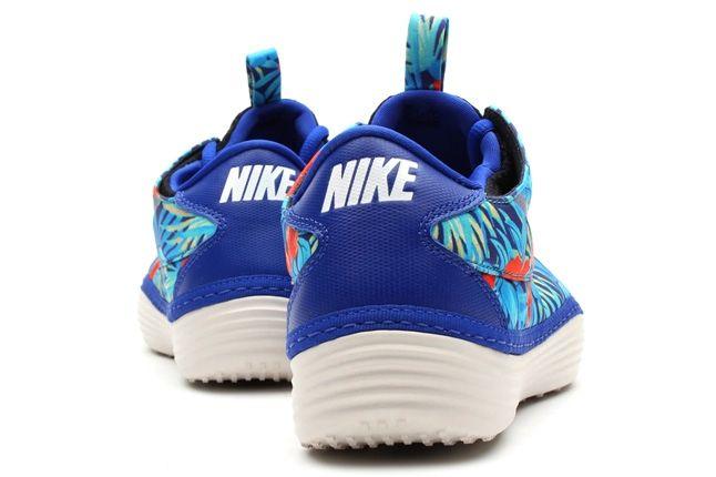 Nike Solarsoft Moccasin Sp Tropical Floral Pack Blue Orange Heel Profile 1