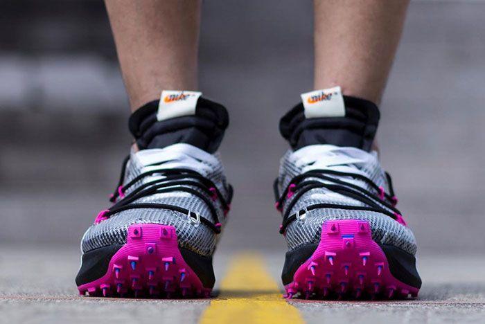 Off White Nike Vapor Street Yellow On Foot Front Shot
