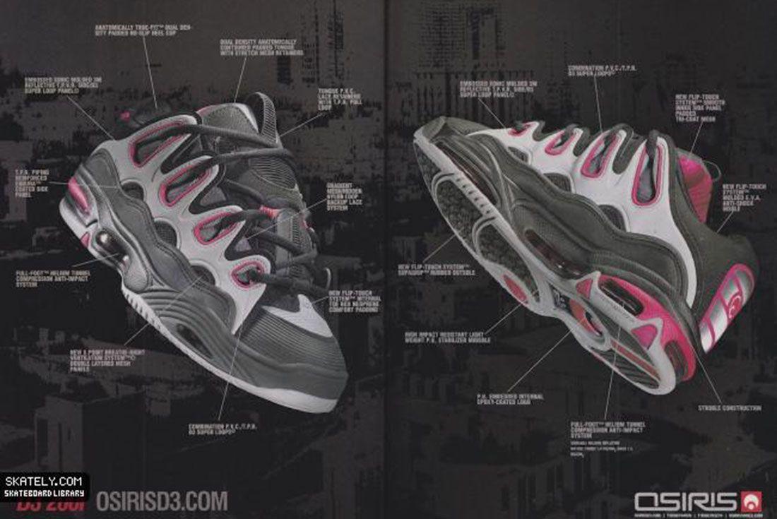 Osiris Shoes D3 2001 Features 2001