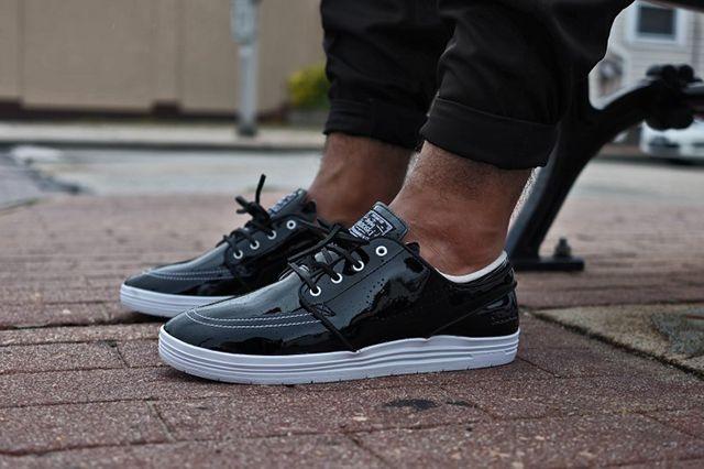 85 Ive2 X Nike Sb Linar Stefan Janoski Black White 1