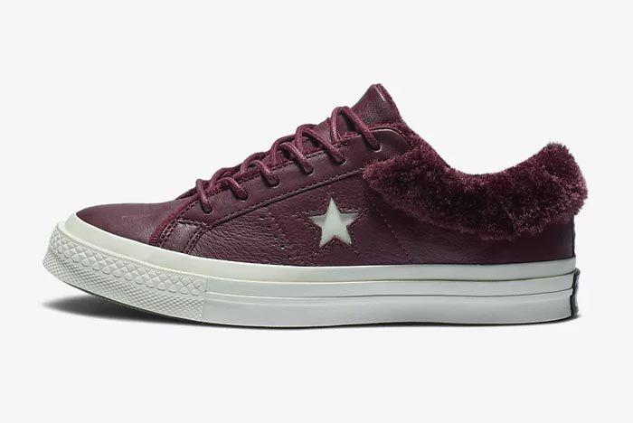 Converse One Star Fur Burgundy 1