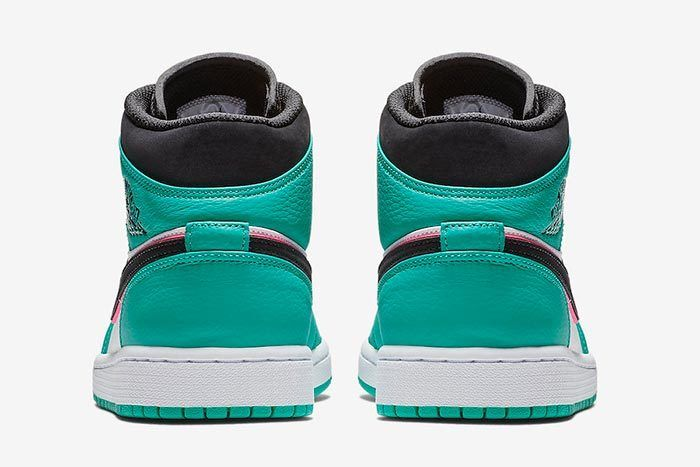 Air Jordan 1 Mid South Beach Turbo Green 852542 306 Release Date 5
