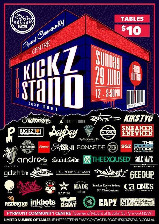 The Kickz Stand Swap Meet 2014 Flyer