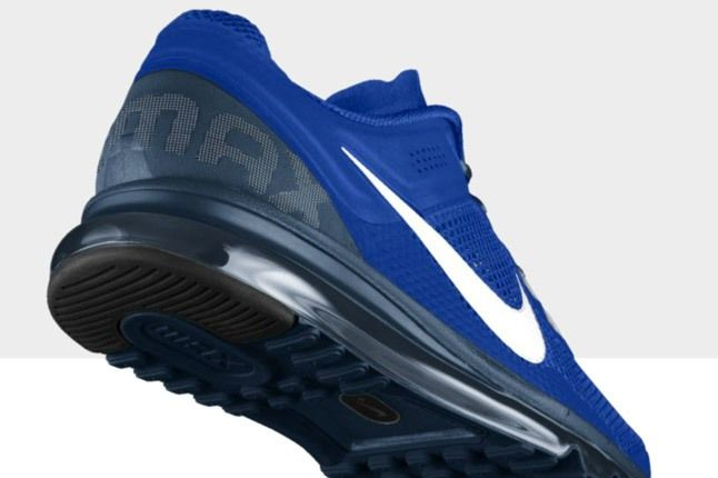 Nikeid Air Max Blue White Heel 1