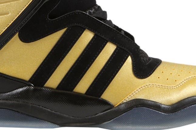 Originals Courtside Collection Black Gold High Sole And Three Stripes 1