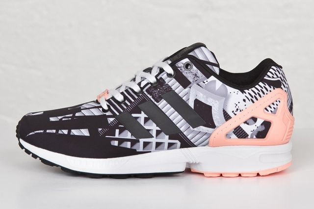 Adidas Zx Flux Core Black Light Flash Oranhge 1