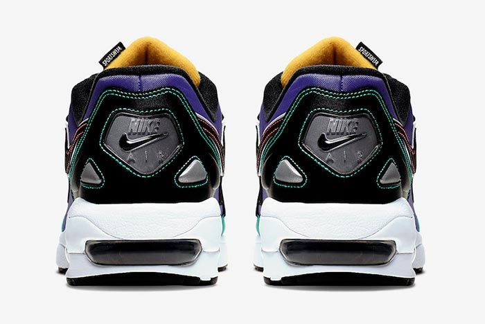 Nike Air Max2 Light Windbreaker Black Flash Krimson Kinetic Green Bv0987 023 Heel Shot