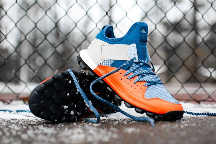 Adidas Response Trail Boost Core Blue Energy Orange 8