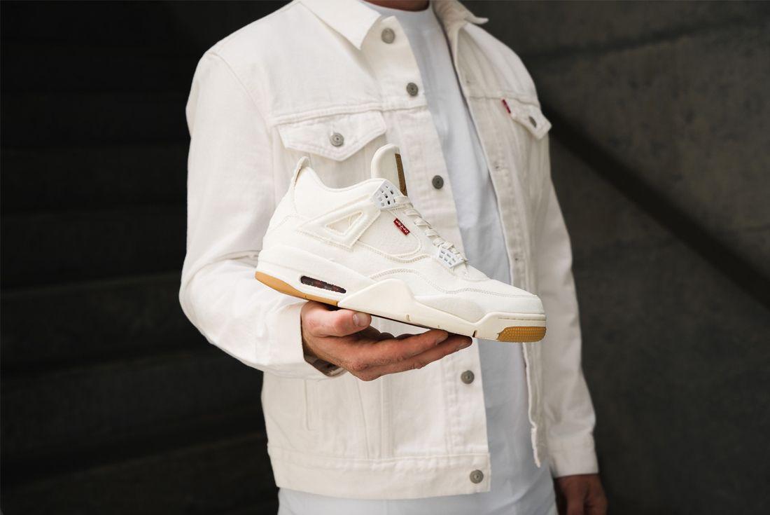 Levis Jordan 4 On Foot 1