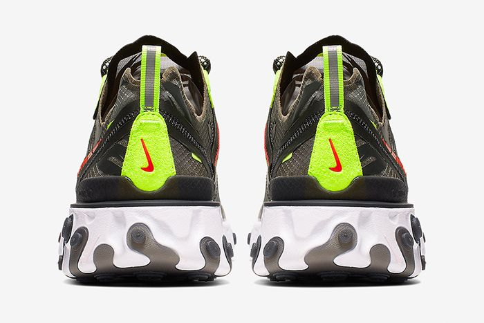Nike React Element 87 Camo Cj4988 200 Release Date Heel