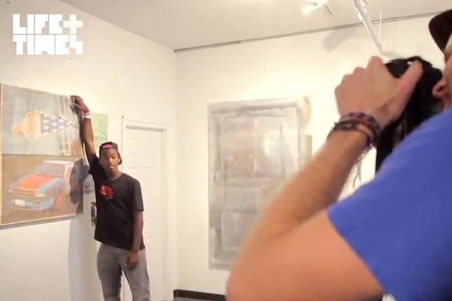 Theotis Beasley Nike Sb Posing With Art 1