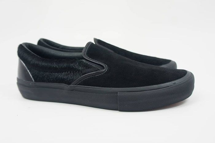 Engineered Garments Vans Vault Slip On Cow Black Right Lateral