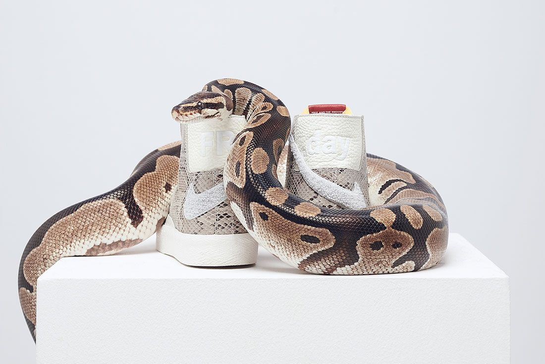 Soulland Nike Sb Blazer Snake Snakeskin Heel Close Up
