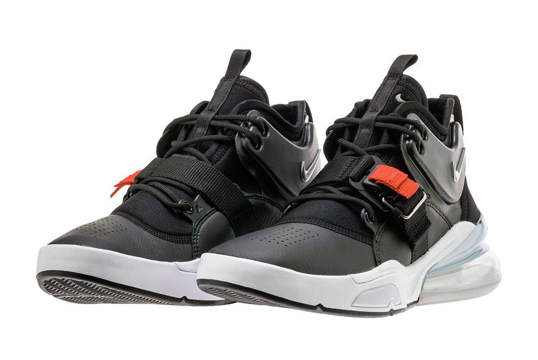 Nike Air Force 270 Black Metallic Silver White 5