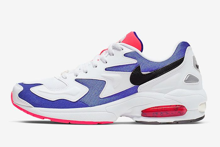 Nike Air Max 2 Light Purple Crimson Side