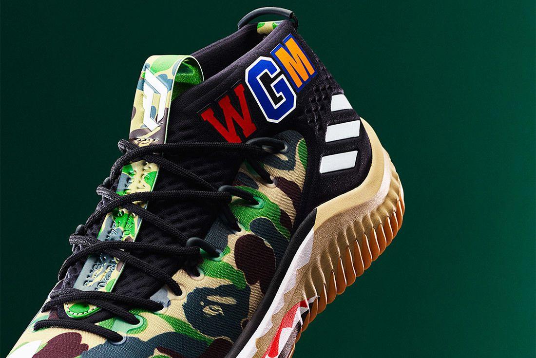 Bape Adidas Dame 4 Green Sneaker Freaker 1