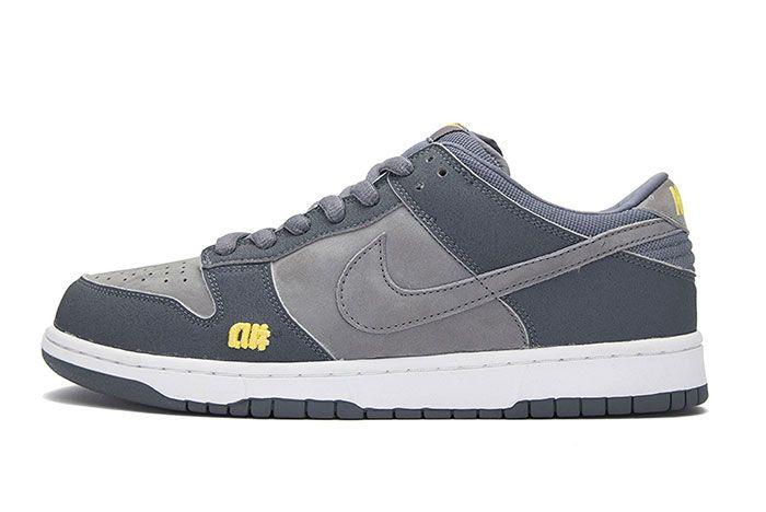 Nike Sb Dunk Alphanumeric Grey Lateral Side