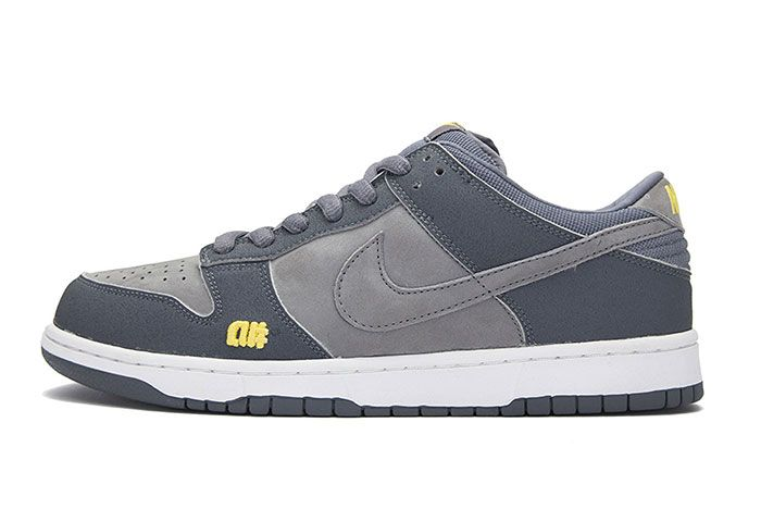 Nike Sb Dunk Alphanumeric Grey Lateral Side