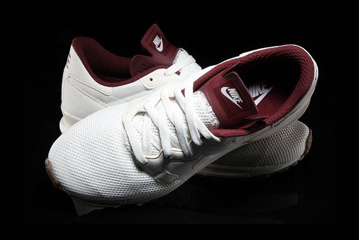 Nike Air Berwuda Premium White Maroon 1