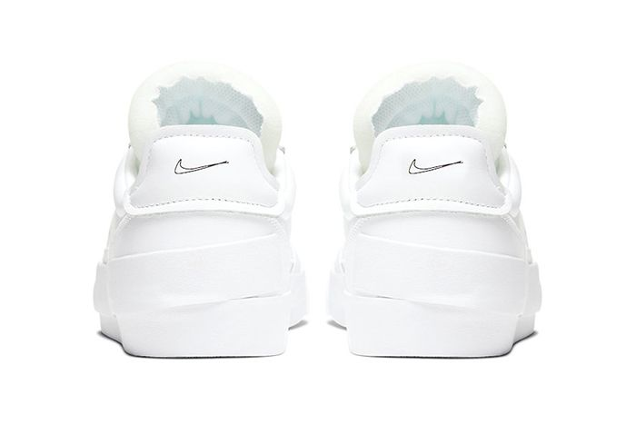 Nike Drop Type Lx Triple White Cn6916 100 Release Date Heel