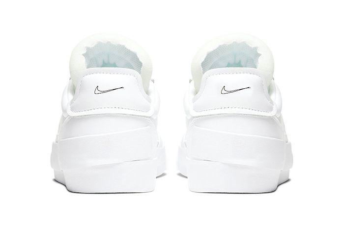 Nike Drop Type Lx Triple White Cn6916 100 Release Date Heel