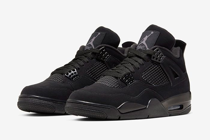 Air Jordan 4 Black Cat Cu1110 010 2020 Front Angle