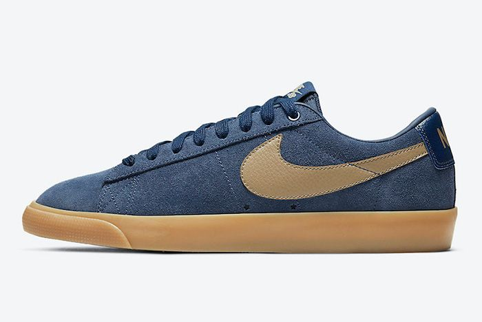 Nike Sb Blazer Low Gt Midnight Navy Gum 704939 403 Release Date Official 3