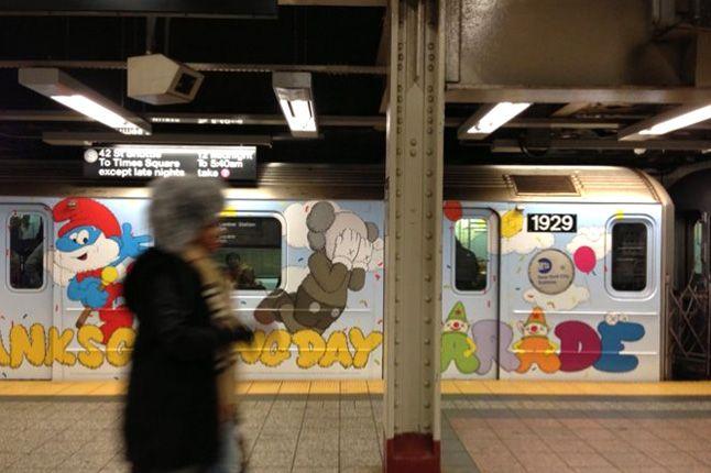Kaws Nyc Mta Subway S Train Stickers Times Square 1
