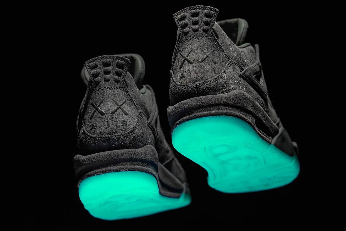 Kaws X Air Jordan 4 Glow In Action4