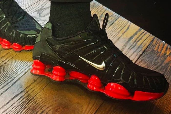 Skepta Nike Shox Tl Red Black Right