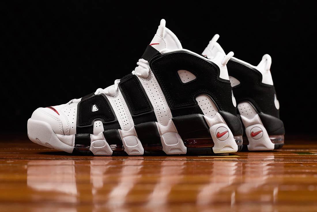 Nike Air More Uptempo Black White Bump 2