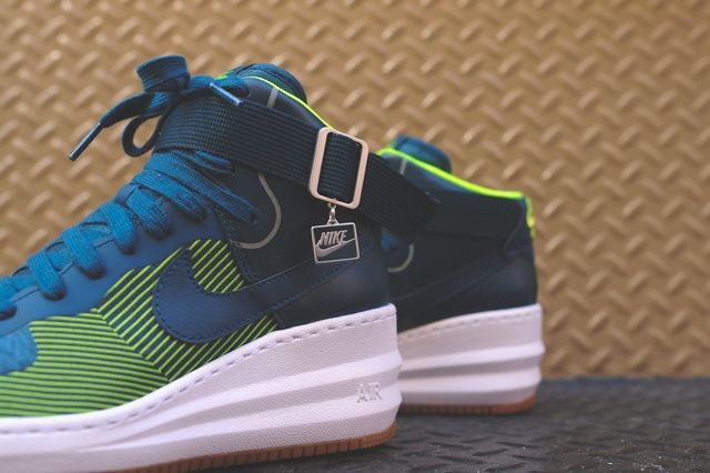 Nike Lunar Force 1 Sky Hi Jacquard Space Blue 4