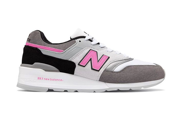 New Balance 997 Lbk Made In Usa Grey Pink Lateral Side Shot