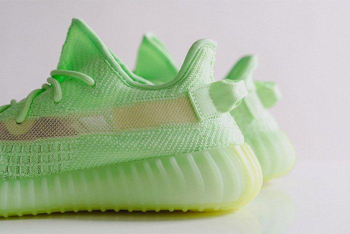 Adidas Yeezy Boost 350 V2 Glow In The Dark Heel 2